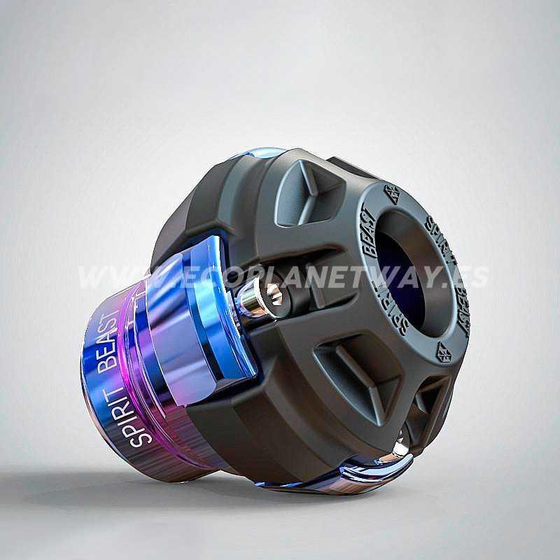Anti golpes de ruedas azul cromado...