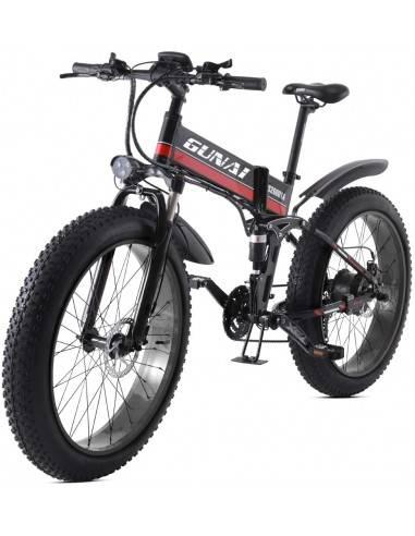 GUNAI Bicicleta eléctrica de montaña,...