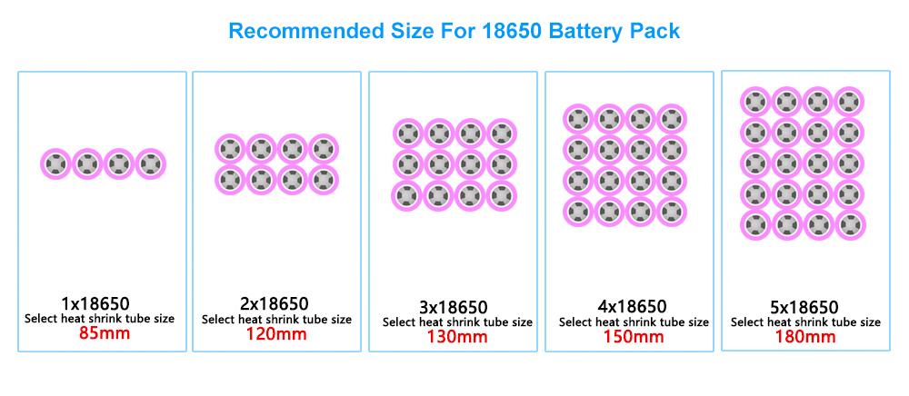 medidas para cada bateria